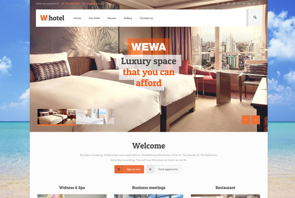 Hotel Website Design Part 58